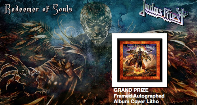 Enter to Win: New Judas Priest CD + Autographed Grand Prize framed Album Litho