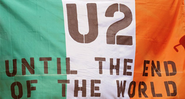 """Live Track: U2 """"Until the End of the World"""" Easter 2015"""