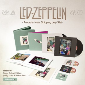 Led Zeppelin- Presence, In Through the Out Door,Coda Deluxe- Jimmy Page