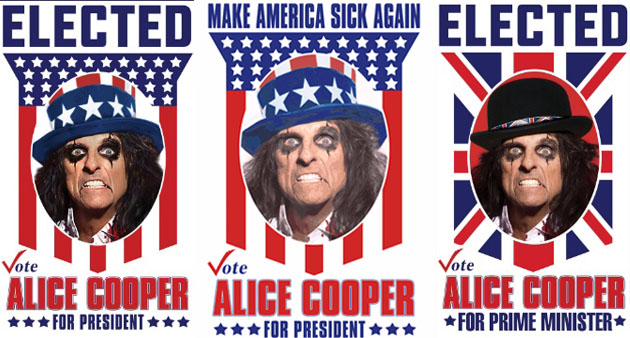 """Alice Cooper Wants to Be """"Elected"""""""