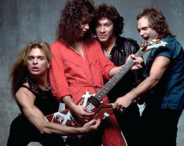 Van Halen Ii Alex Van Halen Michael Anthony David Lee Roth The Late Eddie Van Halen In The Studio With Redbeard