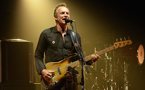 """COLUMBUS, OH - JUNE 21: Sting performs on stage during the """"Rock, Paper, Scissors"""" tour opener at Nationwide Arena on June 21, 2016 in Columbus, Ohio. (Photo by Kevin Mazur/WireImage for Live Nation)"""